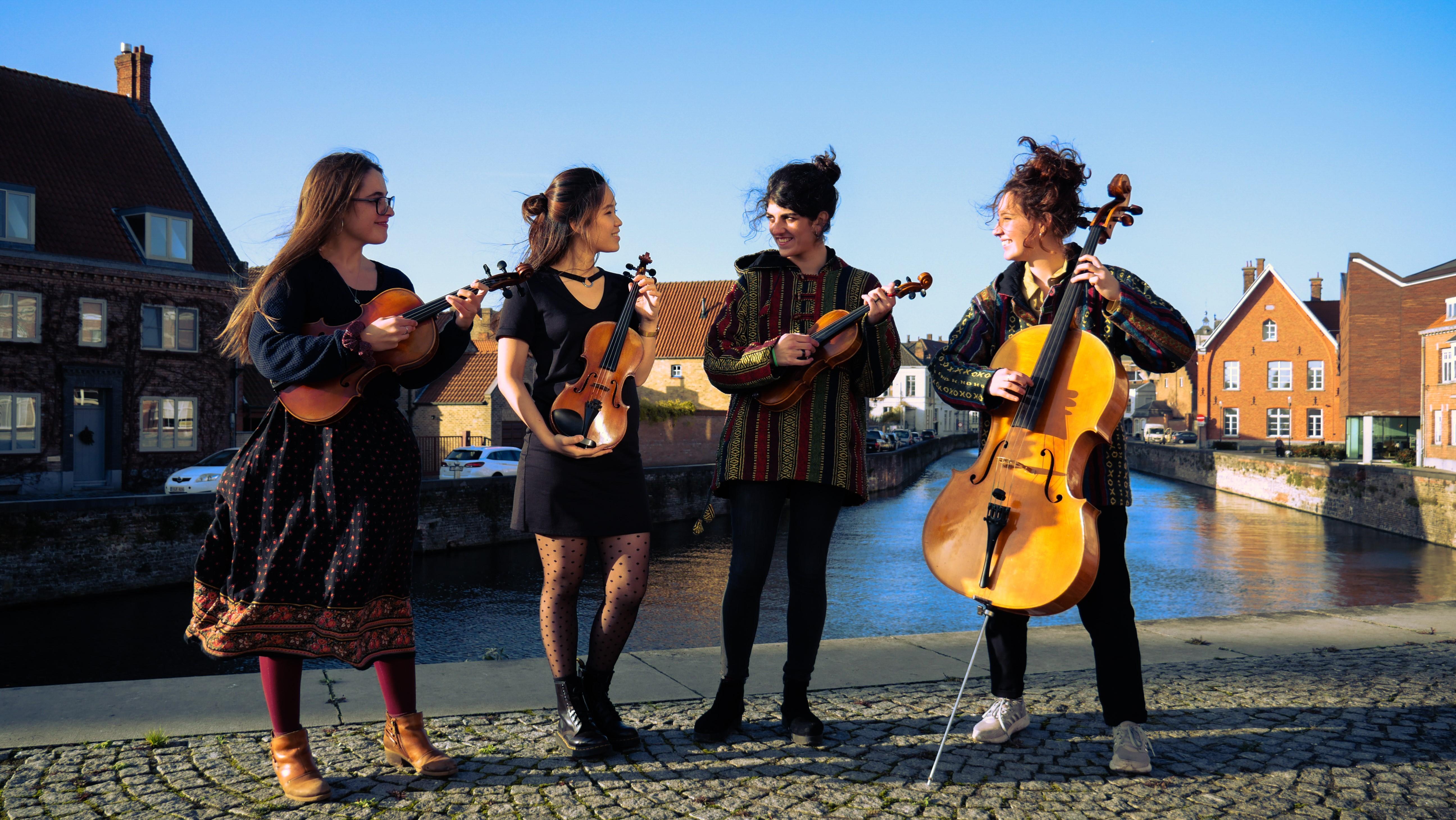 Het Armonia Quartet speelt bij Voorlinden Klassiek in museum Voorlinden